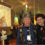 Anne & Ilana at Textile Art show 2015